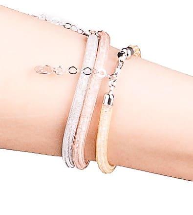 bracciali argento-925-cristalli nei 3 colori oro