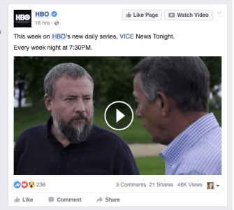 HBO Facebook Post