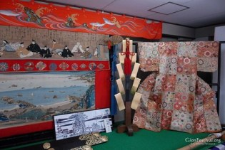 urade yama kimono textile amano hashidate 36 immortal poets gion festival kyoto japan