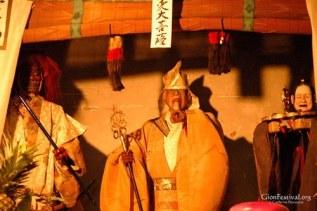 ennogyoja yama three deity statues demon gion festival kyoto japan