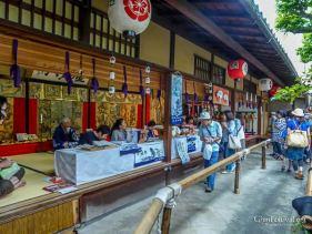 koi yama treasure display courtyard gion festival kyoto japan