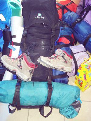 Mon sac à dos prêt pour une semaine à Sulina!