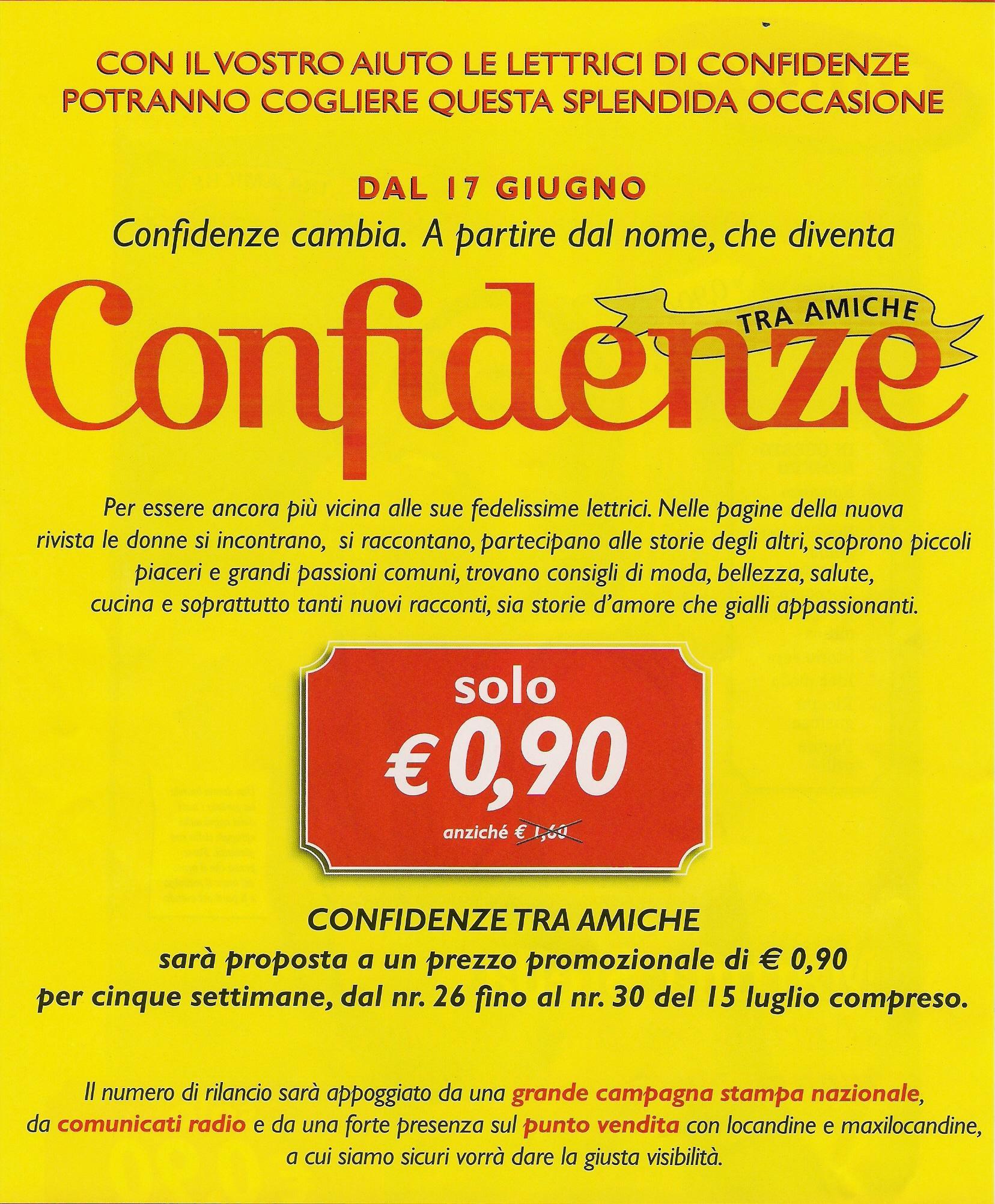 Confidenze Mondadori