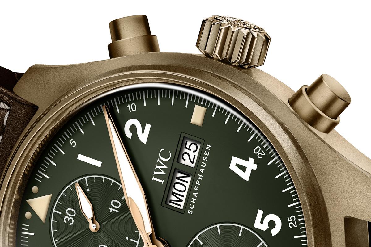 Dettaglio del Pilot's Watch Chronograph Spitfire di IWC.