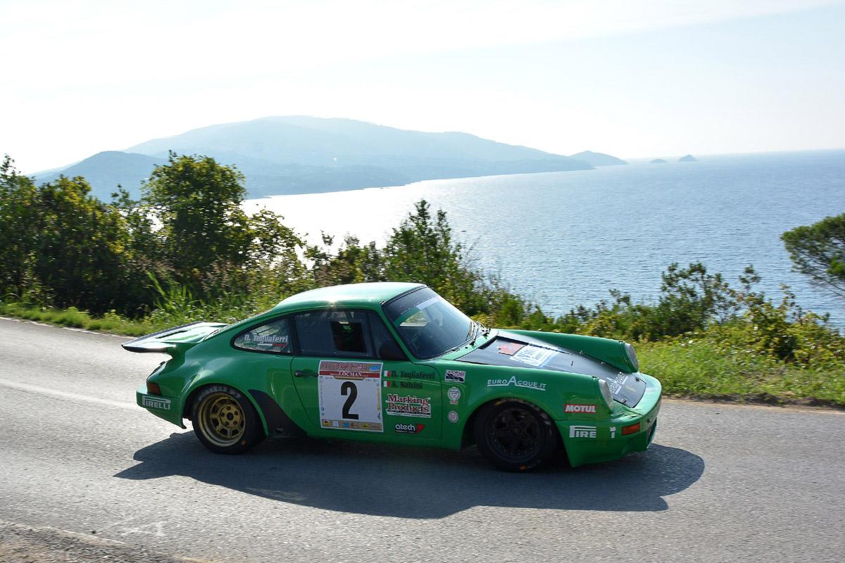 La Porsche dei vincitori del Rallye Elba Storico