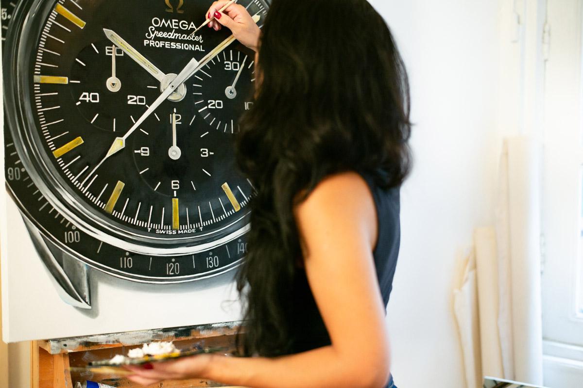 Cecilia Mendoza al lavoro