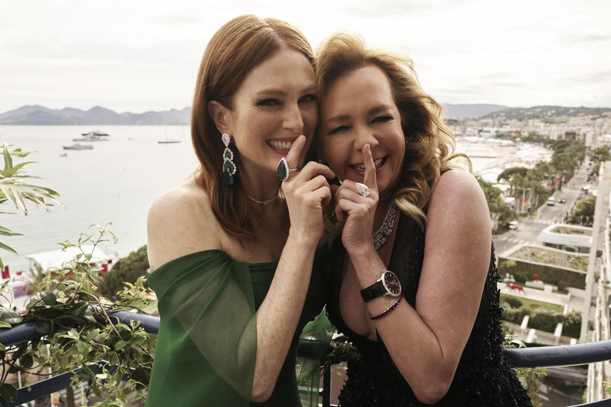 Caroline Scheufele e Julianne Moore al Festival di Cannes 2019