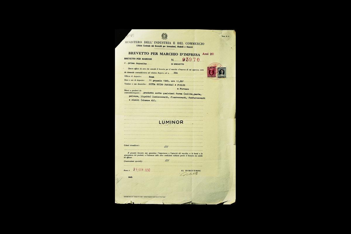 Il brevetto del Luminor, tra i materiali luminescenti di Panerai