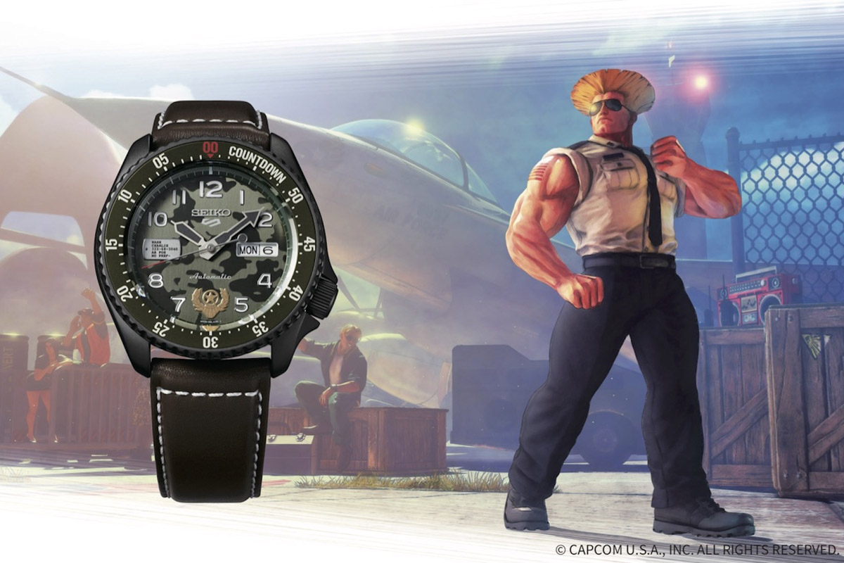 Seiko 5 Sports Street Fighter V Guile