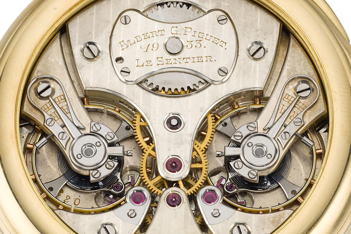 Un cronometro a risonanza di Albert Piguet, 1933