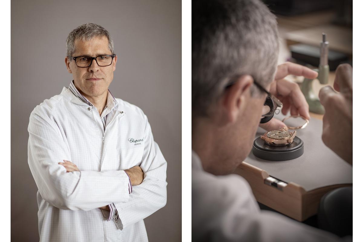 Christophe, uno degli artigiani di Chopard