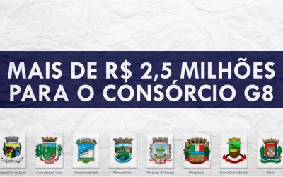 Mais de R$2,5 milhões para o Consórcio G8