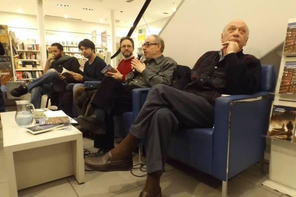 Da sinistra: Vanni Santoni, Raoul Bruni, io, Giuseppe Panella e Corrado Marsan