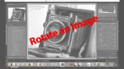 Lightroom Tutorial | Rotate your image using the crop tool