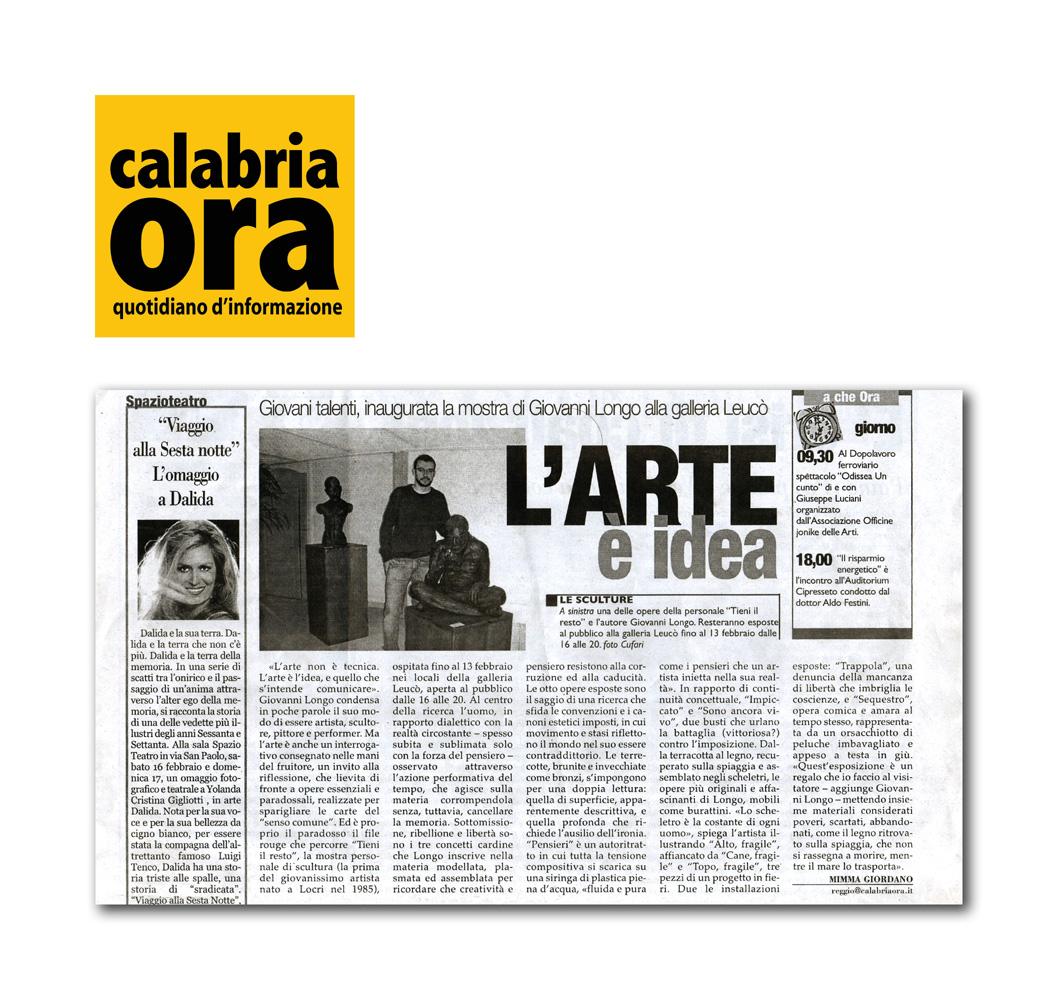 """Giordano M. (2008) """"L'arte è idea"""""""