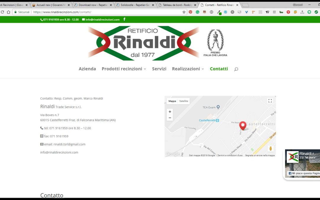 Website for fencing contractor