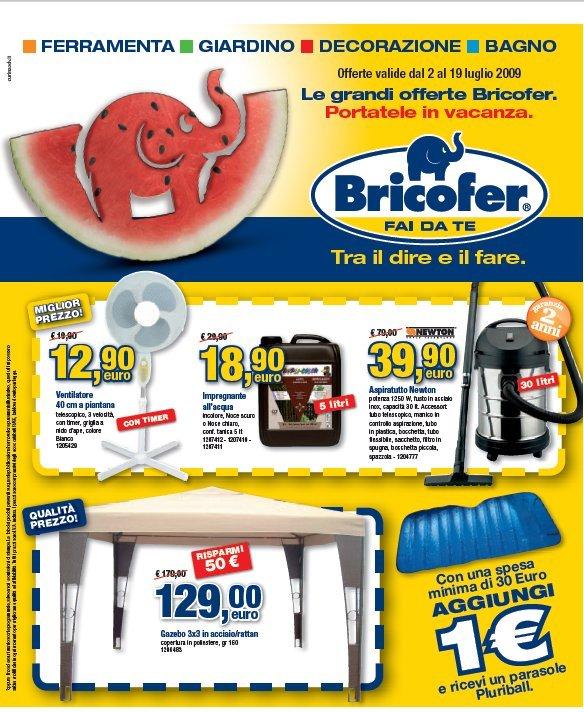 Volantino bricofer dal 2 al 19 luglio giovixl for Volantino bricofer