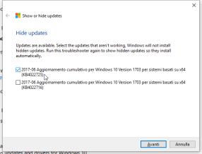 KB4022725, black screen e patch da nascondere (per ora) 1