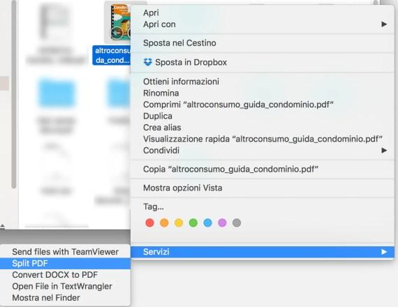 macOS: come scomporre rapidamente un PDF 2