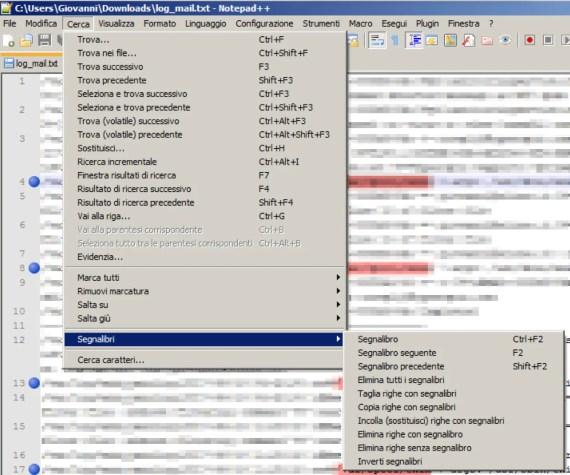 Notepad++: isolare (ed estrarre) righe di testo