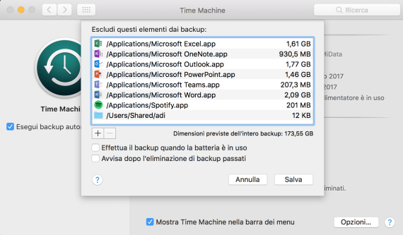 macOS: come dare una snellita la backup di Time Machine 1