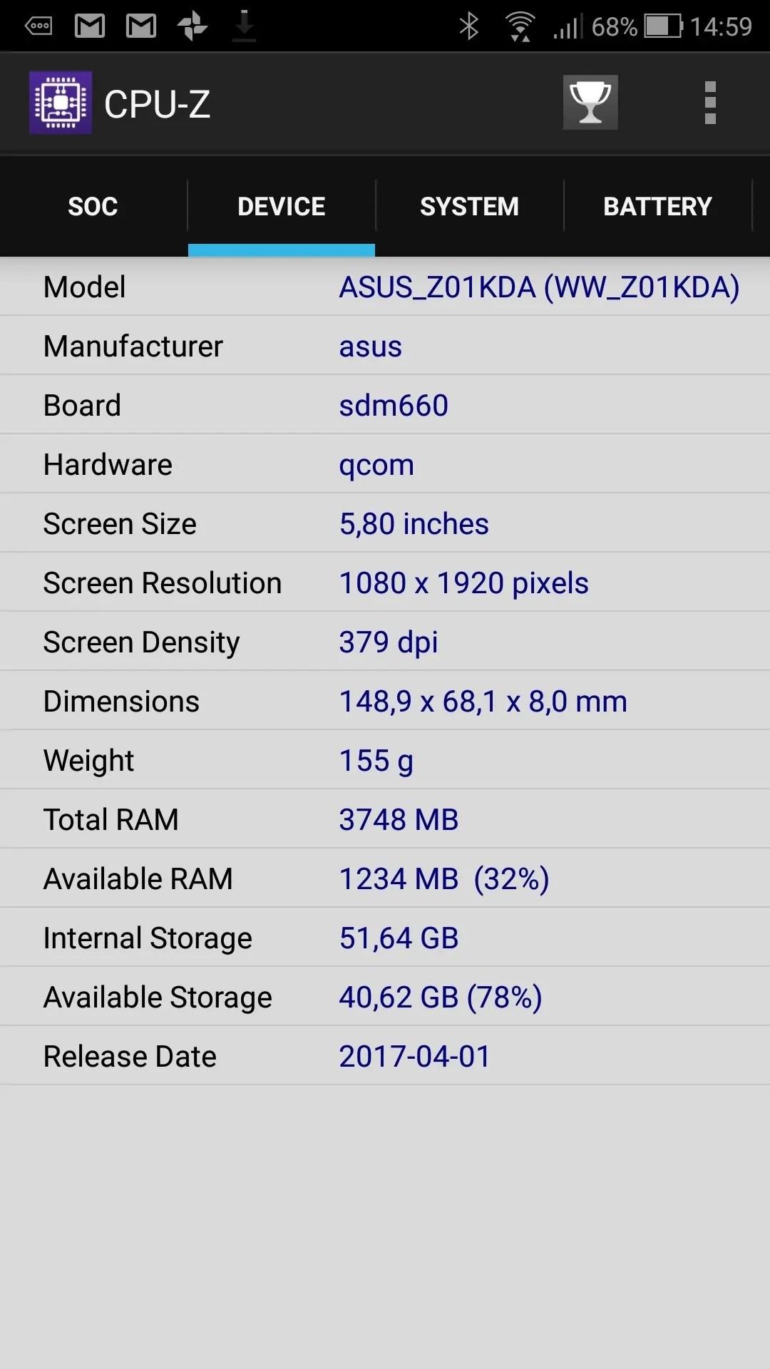 ASUS ZenFone 4 (ZE554KL) 4