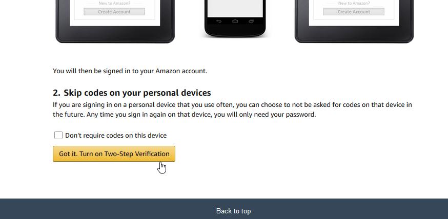 Sicurezza: la 2-step verification di Amazon 6