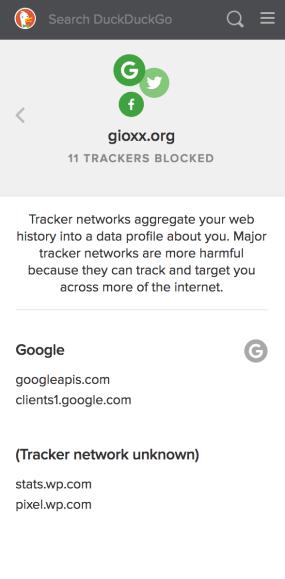 Un'occhiata a DuckDuckGo Privacy Essentials 5