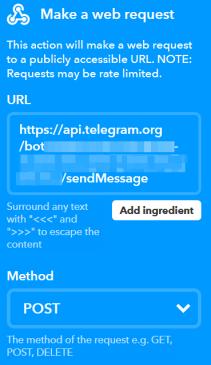 Da WordPress a Telegram, passando per IFTTT 2