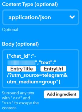 Da WordPress a Telegram, passando per IFTTT 3