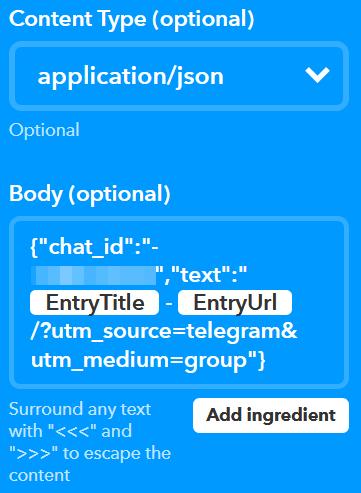 Da WordPress a Telegram, passando per IFTTT 6