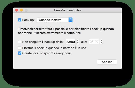 macOS: modificare la schedulazione di Time Machine 1