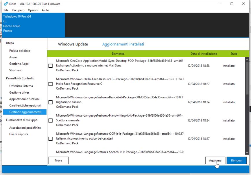 Dism++: pulizia e gestione profonda del disco e del tuo Windows 7