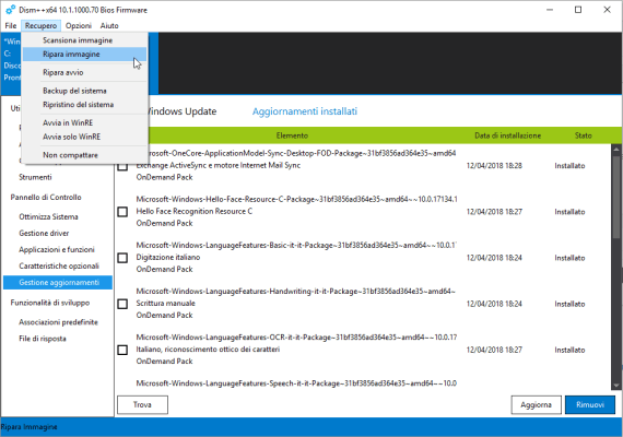 Dism++: pulizia e gestione profonda del disco e del tuo Windows 8