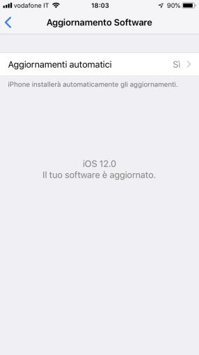 Quando iOS 12 non vuole saperne di aggiornarsi automaticamente 1