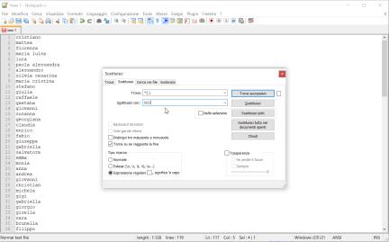 Notepad++: convertire in maiuscolo la prima lettera di ogni riga 1