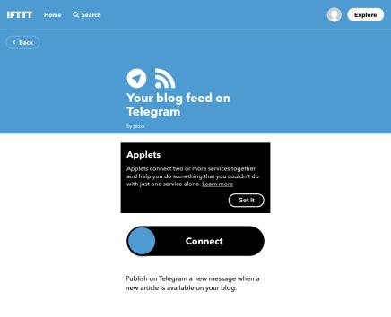 Da WordPress a Telegram: utilizzare il bot ufficiale di IFTTT 1