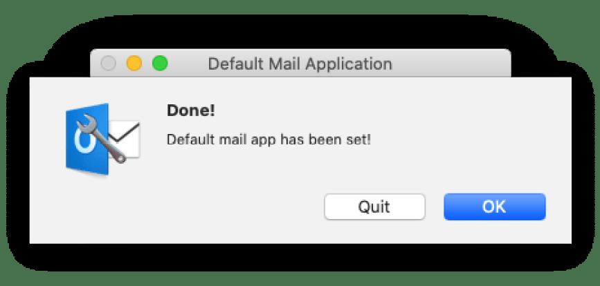 Outlook per Mac: come lo rendo predefinito senza passare da Mail? 3