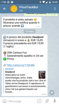 Price Trackbot su Telegram