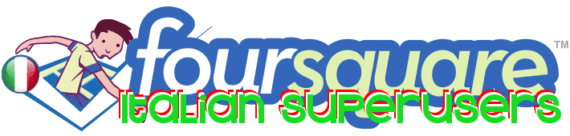 Foursquare Italian Superusers Logo (mappatura Foursquare)