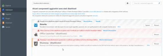 Firefox: disabilitare il controllo firme degli addon (se necessario) 2