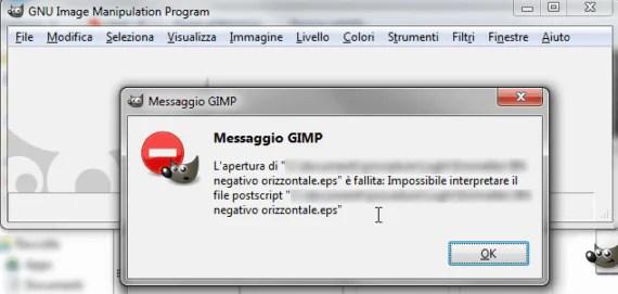 GIMP: impossibile aprire file EPS, come risolvere il problema