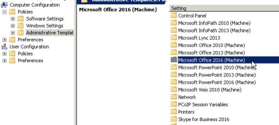 Office 2016: gestione tramite GPO (ADMX)