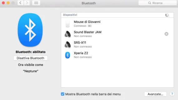 OS X: risolvere i problemi di disconnessione bluetooth