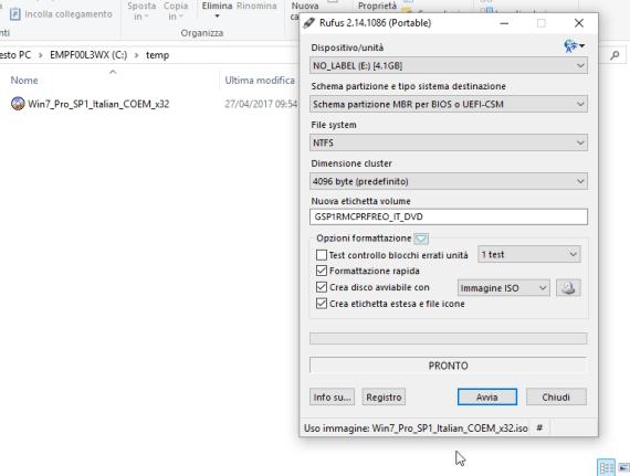 Reinstallare Windows OEM quando il supporto di Recovery non c'è 5