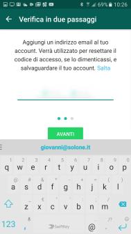 Sicurezza: la 2-step verification di WhatsApp 5
