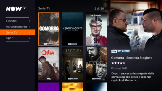Sky Online diventa Now TV, cosa cambia? 3