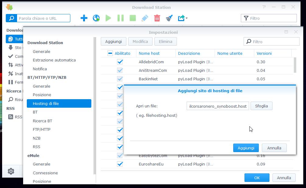 Synology: nuovi repository e file di ricerca 1
