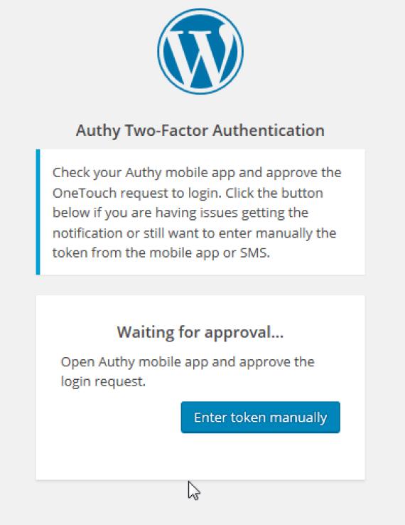 WordPress e Authy: autenticazione OneTouch 3