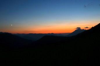 Beeindruckende Farben am Abendhimmel © Gipfelfieber.com